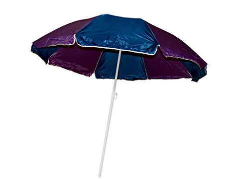 Regalo Perfecto Collection Large Beach Umbrella with Two Part Pole