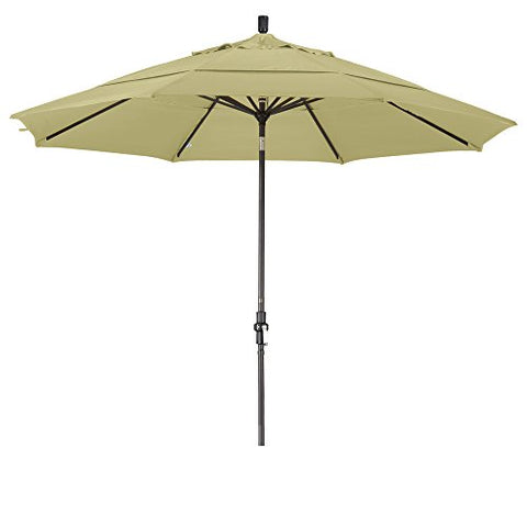 Eclipse Collection 11' Aluminum Market Umbrella Collar Tilt Bronze/Olefin/Antique Beige/DWV