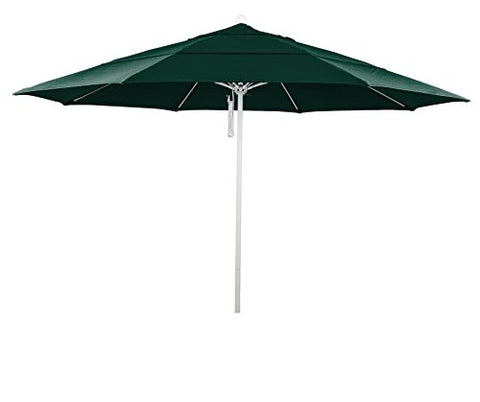 Eclipse Collection 11' Fiberglass Market Umbrella PO DVent MWhite/Olefin/Hunter Green