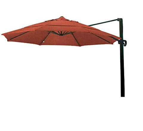 Eclipse Collection 11' CantileverUmbrella CrankLift MultiPositon Tilt Bronze/Sunbrella/Henna