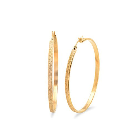 Ben and Jonah Ladies 18k Gold Plated 55mm Hoop Earrings