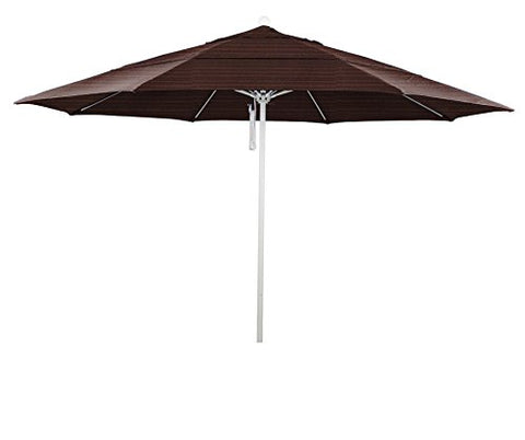 Eclipse Collection 11' Fiberglass Market Umbrella PO DVent MWhite/Olefin/Terrace Adobe