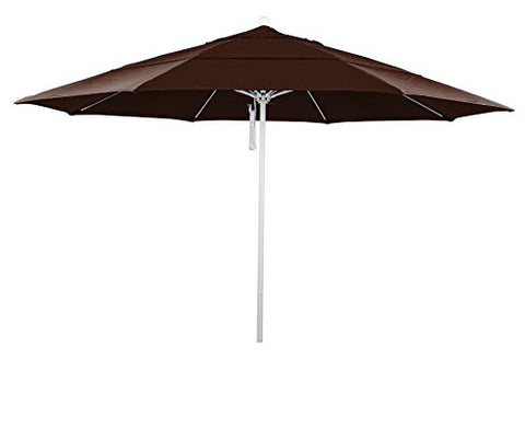 Eclipse Collection 11' Fiberglass Market Umbrella PO DVent White/Sunbrella/BayBrown