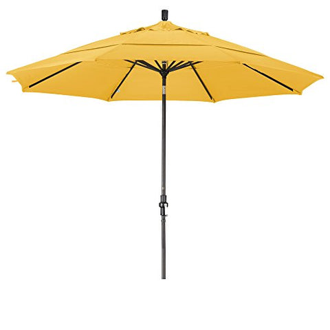 Eclipse Collection 11' Aluminum Market Umbrella Collar Tilt Bronze/Olefin/Lemon/DWV