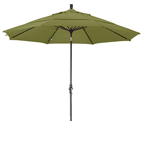 Eclipse Collection 11' Aluminum Market Umbrella Collar Tilt Bronze/Olefin/Kiwi/DWV