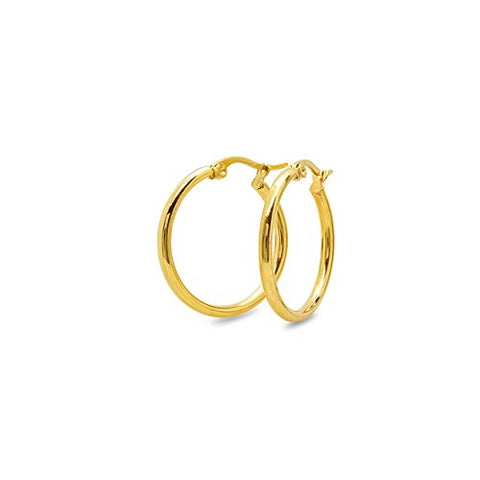 Ben and Jonah Ladies 18 KT Gold Plated 10MM Hoop Earrings