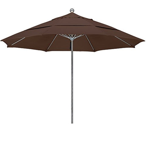 Eclipse Collection 11'SSteel SinglePole FGlass Ribs M Umbrella DV Anodized/Sunbrella/Bay Brown