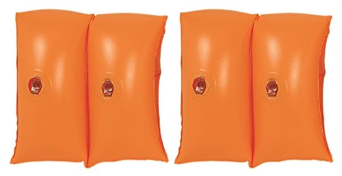 By PoolCentral Set of 2 Orange Inflatable Swimming Pool Arm Floats for Kids 3-6 Years