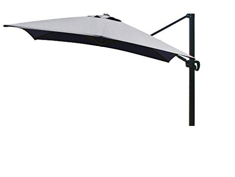 Eclipse Collection 10'x10' SquareCantileverUmbrella CL MultiPositon Bronze/Sunbrella/Navy