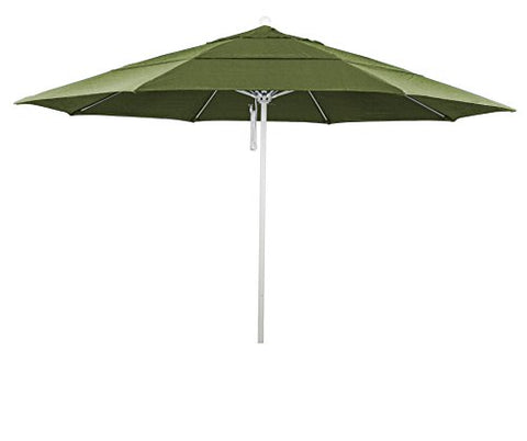 Eclipse Collection 11' Fiberglass Market Umbrella PO DVent White/Sunbrella/Spectrum Cilantro