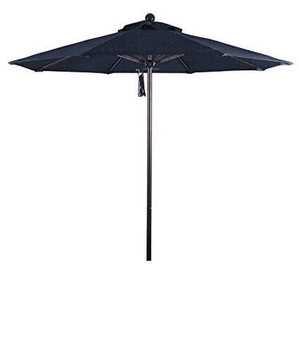 Eclipse Collection 7.5' Fiberglass Market Umbrella PO DVent Bronze/Sunbrella/Spectrum Indigo