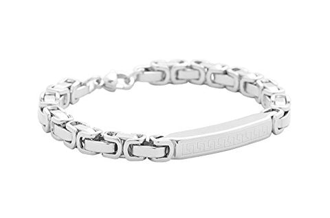 BenandJonah Stainless Steel Bracelet w/Great Wall Etching