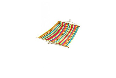 Patio Bliss Oversized Hammock with Spreader Bars and Pillow - Tropical Fruit