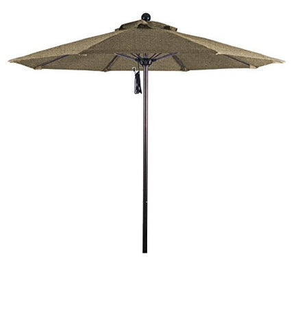 Eclipse Collection 7.5' Fiberglass Market Umbrella PO DVent Bronze/Sunbrella/Ses.Linen