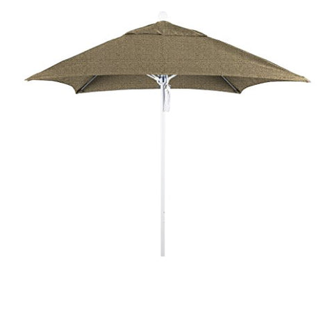 Eclipse Collection 6' Fiberglass Market Umbrella PO DVent Matte White/Sunbrella/Ses.Linen