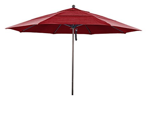 Eclipse Collection 11' Fiberglass Market Umbrella PO DVent Bronze/Pacifica/Red