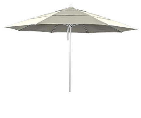 Eclipse Collection 11' Fiberglass Market Umbrella PO DVent MWhite/Pacifica/Canvas