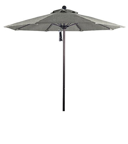 Eclipse Collection 7.5' Fiberglass Market Umbrella PO DVent Bronze/Sunbrella/Granite