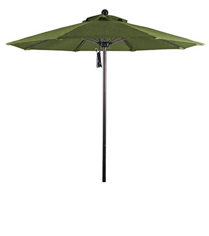 Eclipse Collection 7.5' Fiberglass Market Umbrella PO Dvent White/Sunbrella/Spectrum Cilantro