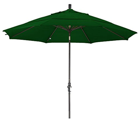 Eclipse Collection 11' Aluminum Market Umbrella Collar Tilt Bronze/Olefin/Hunter Green/DWV