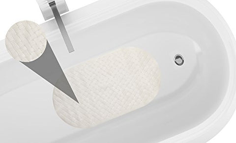 Park Avenue Deluxe Collection Park Avenue Deluxe Collection Weave Look Vinyl Bath Tub Mat Size 15 inch x27 inch  in Ivory
