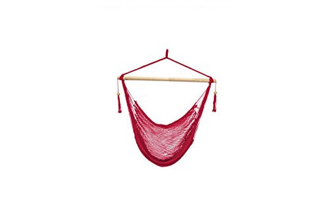 Patio Bliss Island Rope Chair - Red - Red