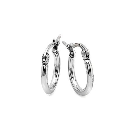 Ben and Jonah Ladies Stainless Steel 10mm Hoops