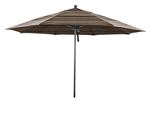 Eclipse Collection 11' Fiberglass Market Umbrella PO DVent Bronze/Olefin/Terrace Sequoia