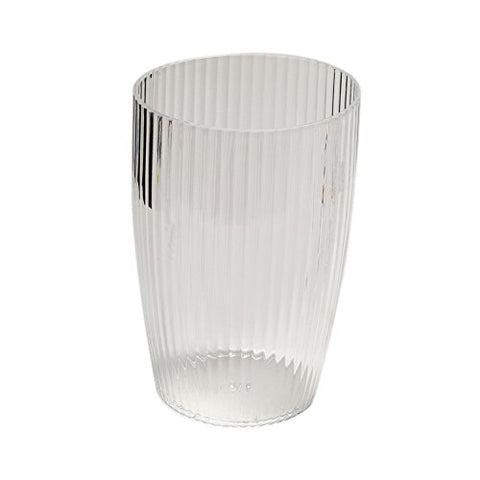 Park Avenue Deluxe Collection Park Avenue Deluxe Collection Clear Rib-Textured Waste Basket