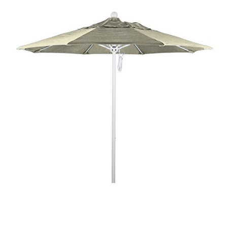 Eclipse Collection 7.5' Fiberglass Market Umbrella PO DVent White/Sunbrella/Canvas
