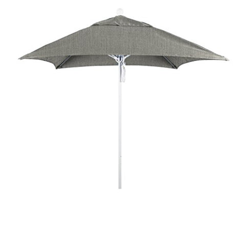 Eclipse Collection 6' Fiberglass Market Umbrella PO DVent Matte White/Sunbrella/Granite