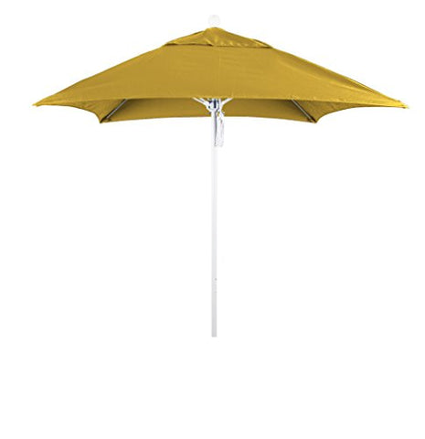 Eclipse Collection 6' Fiberglass Market Umbrella PO DVent Matte White/Sunbrella/Sunflower Yellow