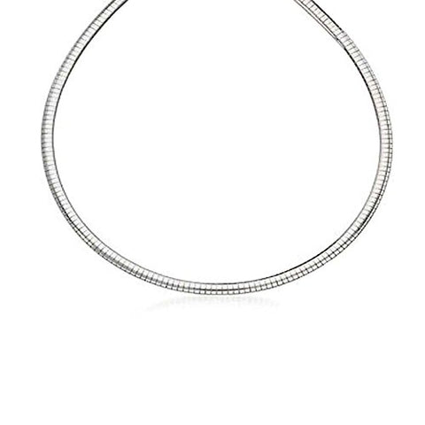 Ben and Jonah Fancy 925 Sterling Silver Omega Necklace 4mm Thick and 16 inch  Long