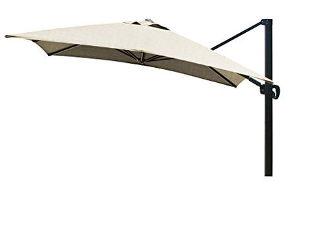 Eclipse Collection 10'x10' SquareCantileverUmbrella CL MultiPositon Bronze/Sunbrella/Heather Beige