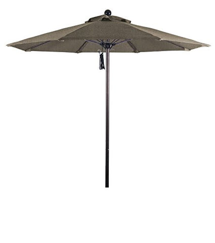 Eclipse Collection 7.5' Fiberglass Market Umbrella PO DVent Bronze/Sunbrella/Taupe