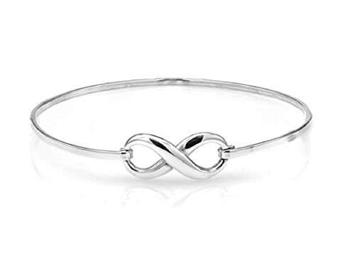 Ben and Jonah 925 Sterling Silver Infinity Bracelet with Hook closure