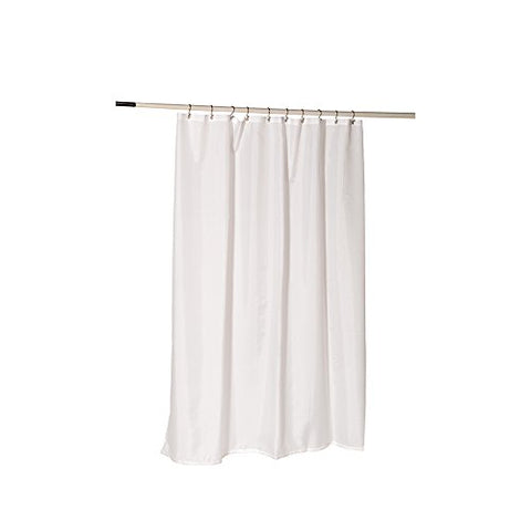 Park Avenue Deluxe Collection Nylon Fabric Shower Curtain Liner w/ Reinforced Header and Metal Grommets in White