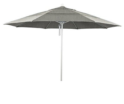 Eclipse Collection 11' Fiberglass Market Umbrella PO DVent White/Sunbrella/Granite