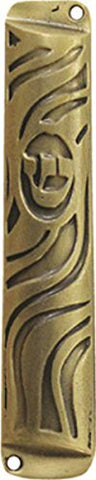 Ultimate Judaica Mezuzah 7cm Gold Tone Swirl
