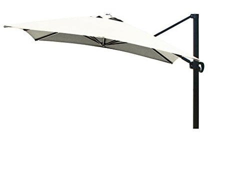 Eclipse Collection 10'x10' SquareCantileverUmbrella CL MultiPositon Bronze/Sunbrella/Natural