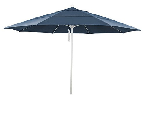 Eclipse Collection 11' Fiberglass Market Umbrella PO DVent MWhite/Pacifica/Sapphire