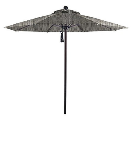 Eclipse Collection 7.5' Fiberglass Market Umbrella Pulley Open Bronze/Olefin/Woven Granite