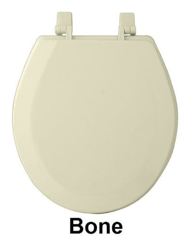 Ben&Jonah Collection Fantasia 17 Inch Bone Standard Wood Toilet Seat