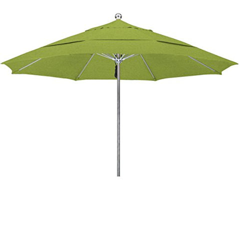 Eclipse Collection 11'SSteel SinglePole FGlass Ribs M Umbrella DV Anodized/Sunbrella/Macaw