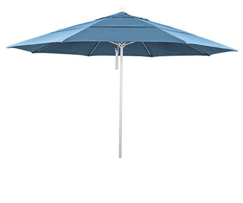 Eclipse Collection 11' Fiberglass Market Umbrella PO DVent MWhite/Olefin/Frost Blue