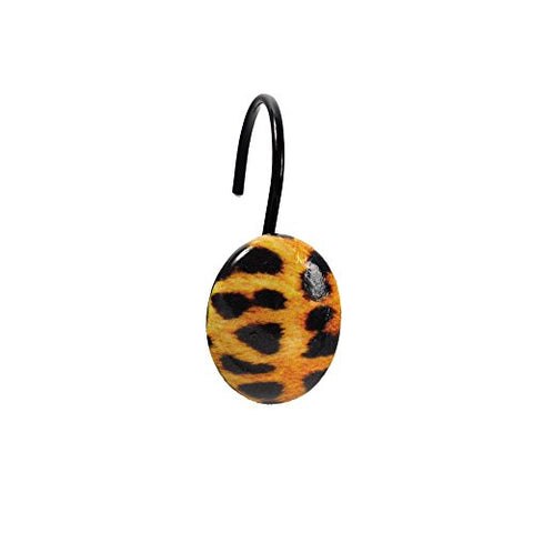 Park Avenue Deluxe Collection Park Avenue Deluxe Collection  inch Leopard inch  Resin Shower Curtain Hooks