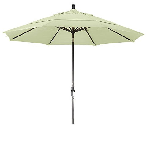 Eclipse Collection 11' Aluminum Market Umbrella Collar Tilt Bronze/Olefin/White/DWV
