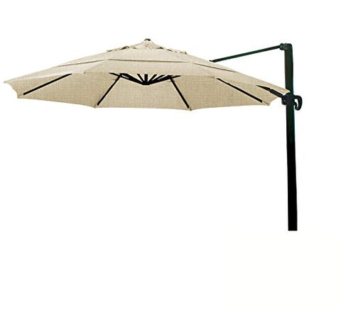 Eclipse Collection 11' CantileverUmbrella CrankLift MultiPositon Tilt Bronze/Sunbrella/Heather Beige