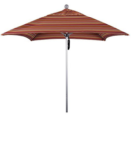Eclipse Collection 6' Fiberglass Market Umbrella PO DVent Silver Anodized/Sunbrella/Dolve Mango