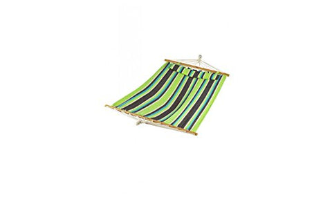 Patio Bliss Oversized Hammock with Spreader Bars and Pillow - Mediterranean